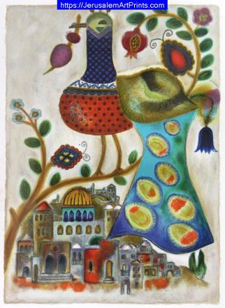 Jerusalem Rooftops by Irene Awret